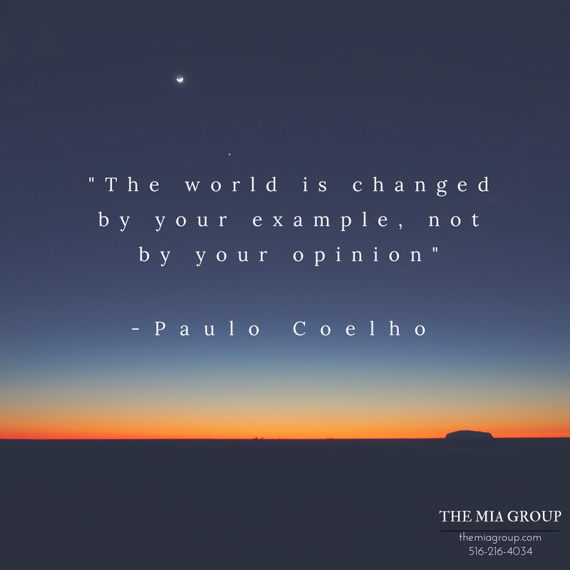 The world is changed by your example